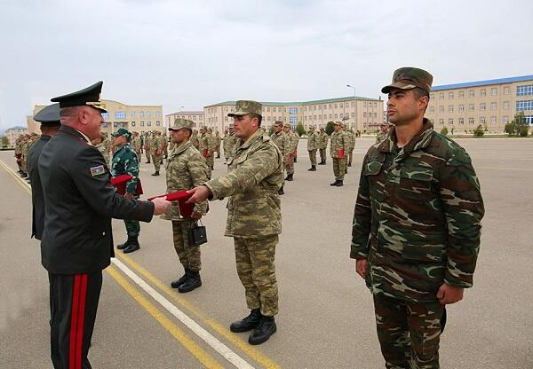 New professional servicemen of our army -