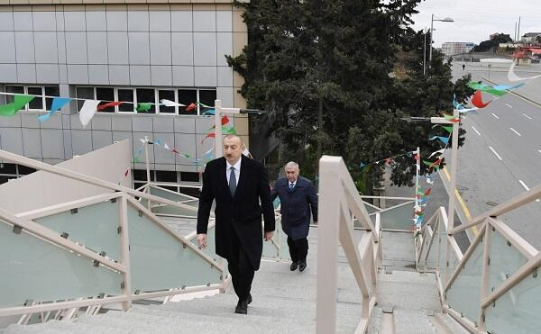 President at opening of pedestrian crossing -