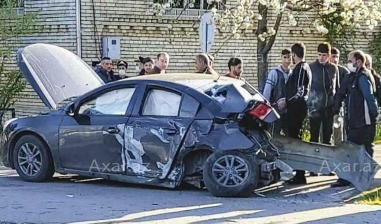 """Şevrolet"" sərnişin avtobusuna çırpıldı – Foto"