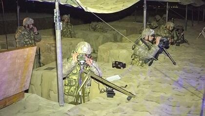 Our artillery units were trained at night  -