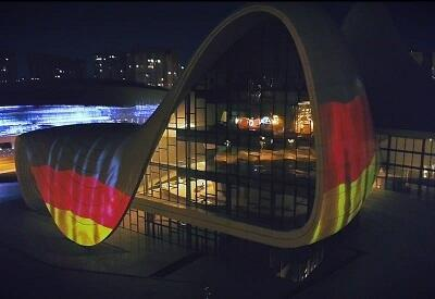 Heydar Aliyev Center supports Germany -