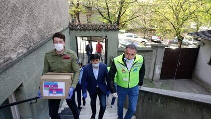 Azərbaycandan Belqradda örnək addım - Foto