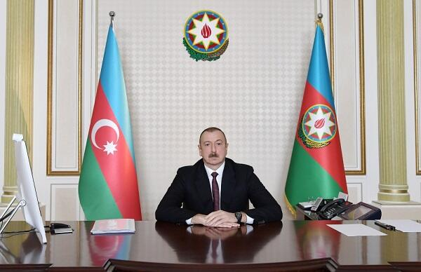 Ilham Aliyev held a video conference with presidents