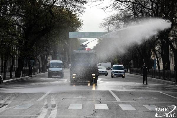 Extensive disinfection will be carried out in Baku