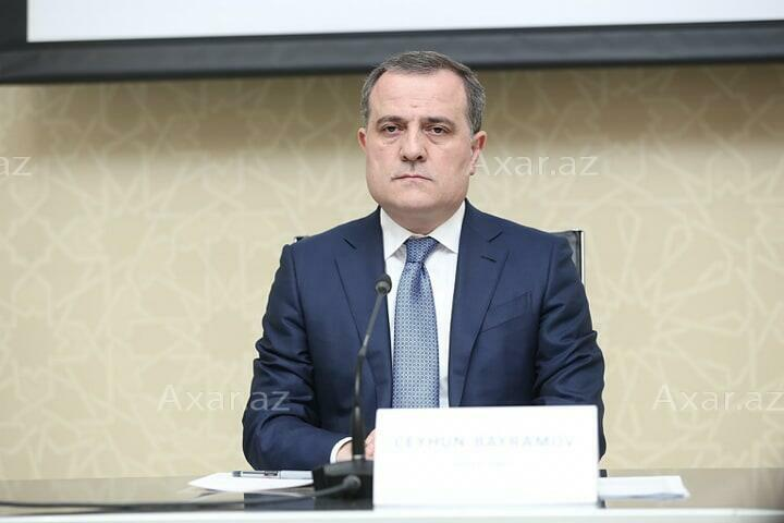 Jeyhun Bayramov expressed condolences to Javad Zarif