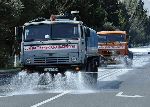 Bakıda 550 küçə dezinfeksiya edildi