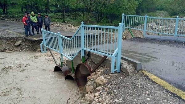 Tovuzun kəndini sel basdı - Video