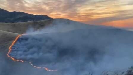 Пожар на границе Ирана и Азербайджана
