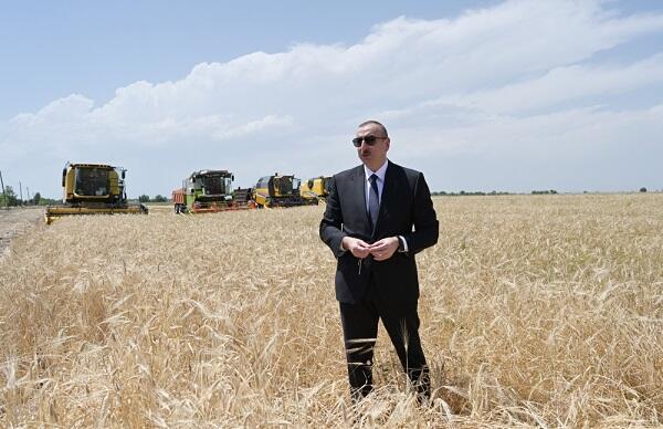 Ильхам Алиев посетил Агджабединский район