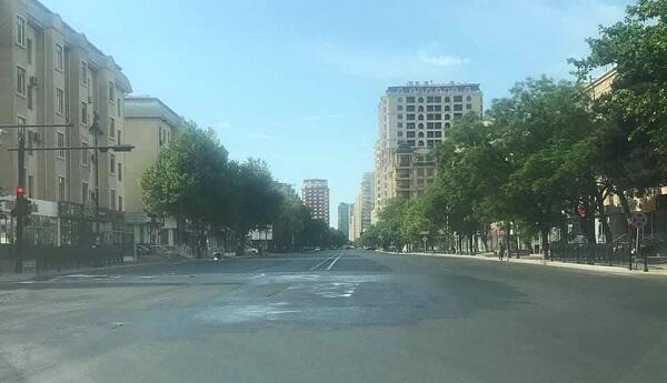 Qadağadan sonra Bakı küçələri - Fotolar