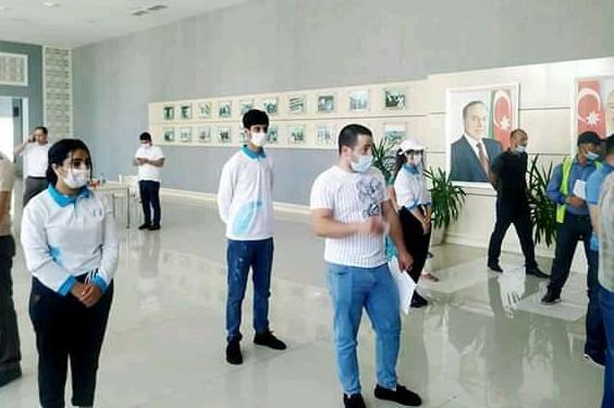 Göyçayda gənclərdən maraqlı aksiya - Foto