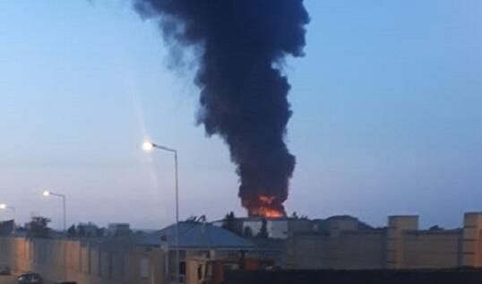 Heavy fire in Baku: explosions were heard -