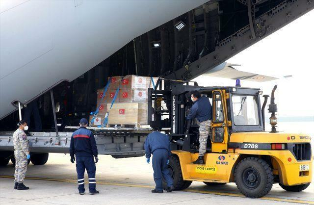Turkey has sent aid to Azerbaijan
