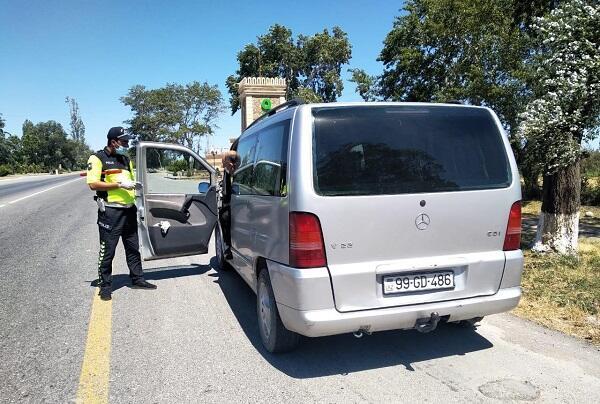 Оштрафованы 5 человек, ехавшие на отдых в Балакян
