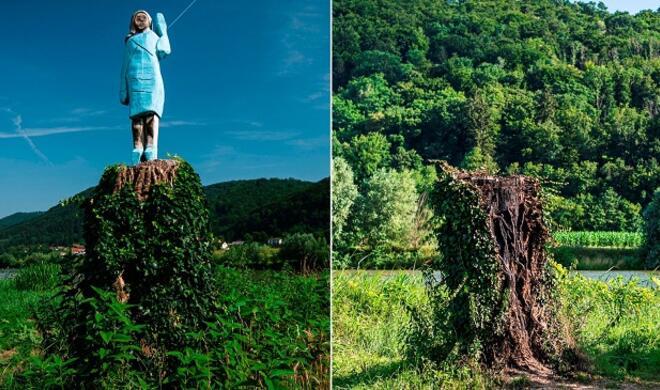 Melania Trump's statue in Slovenia burnt down -
