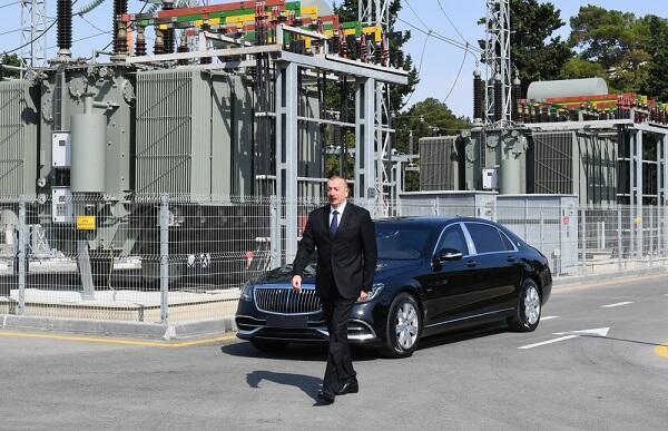 İlham Əliyev yeni stansiyanın açılışını etdi - Foto