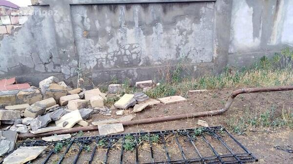 Yağış xəstəxananın hasarını uçurdu, qaz xətti zədələndi