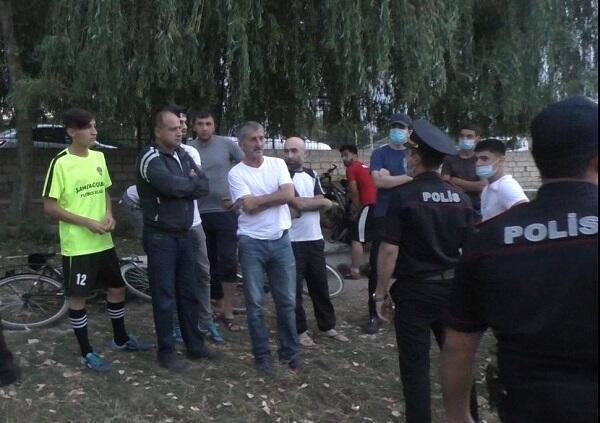 Qubada futbol oynayan 25 nəfər saxlanıldı