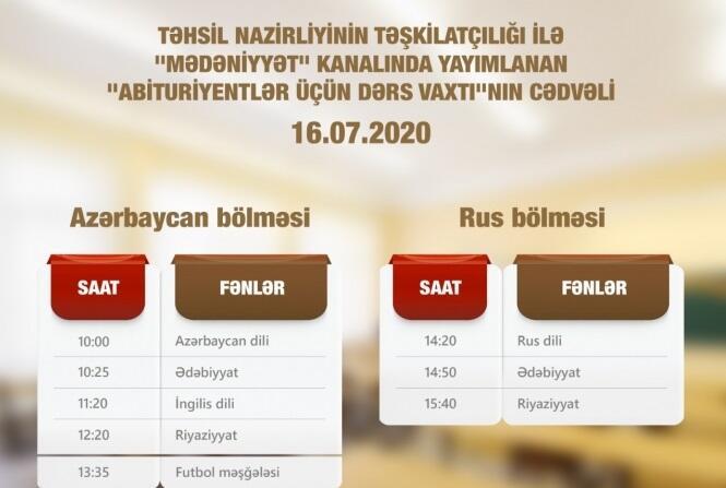 Расписание телеуроков для абитуриентов на завтра