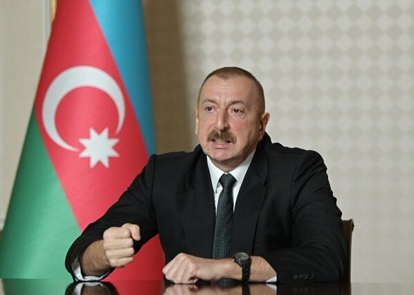 Ilham Aliyev is holding a meeting -