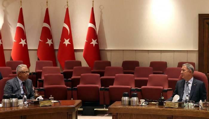 Generalımız türkiyədə: Akarla görüşdü - Foto