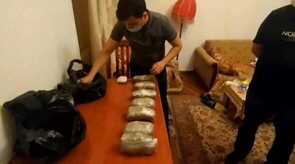 21 kq narkotik dövriyyədən çıxarıldı