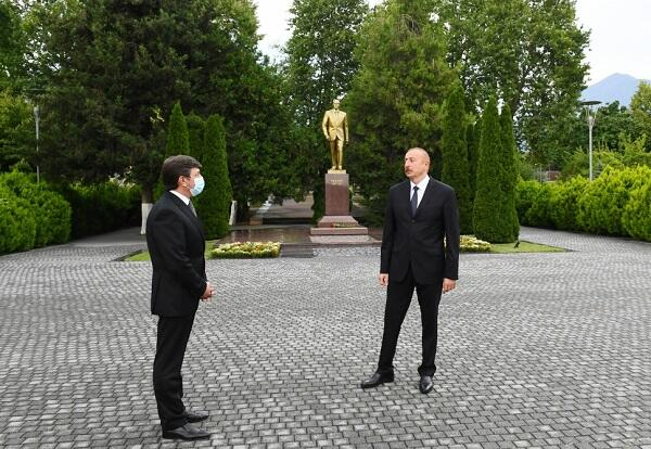 Ильхам Алиев посетил Габалинский район