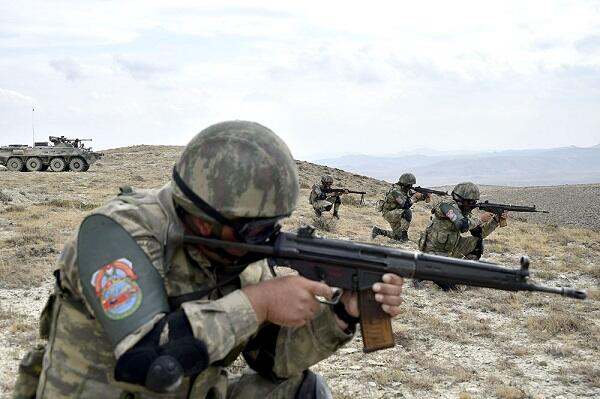 New footage from Azerbaijan-Turkey training -