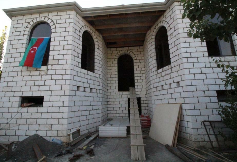 Şəhid mayorun yarımçıq qalmış evi təmir edilir - Foto