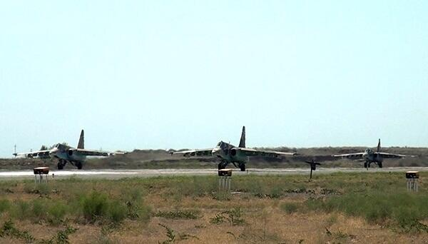 Azerbaijani and Turkish fighters were launched -