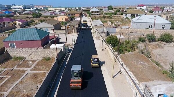 Bakıda 18 km-lik yol yenidən qurulur - Foto