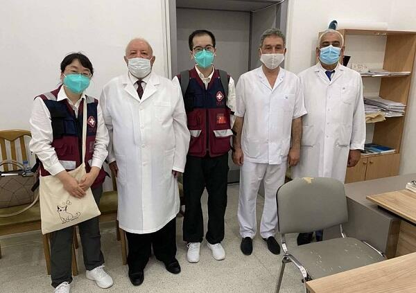 Doctors from China at the Clinical Hospital -
