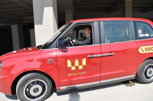 "The President tested the ""London taxi"" -"