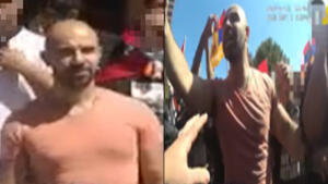 Man wanted in an assault during Armenian protest