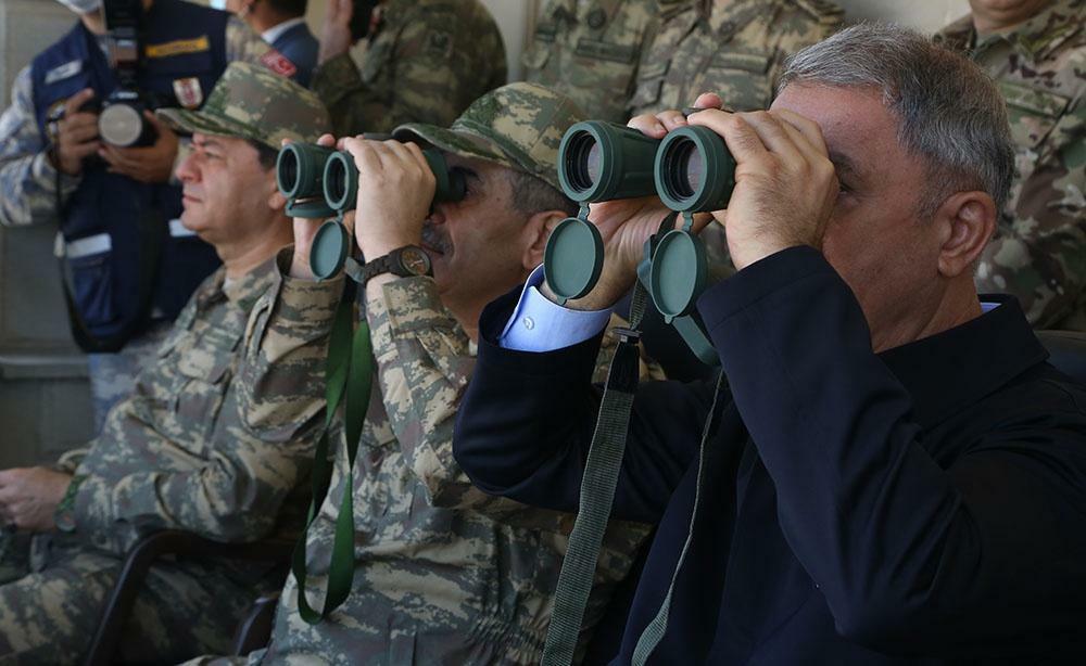 Hulusi Akar and Zakir Hasanov attended the trainings -