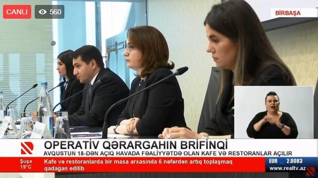Operativ Qərargahın brifinqi - Canlı