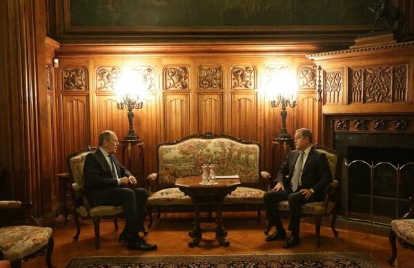 The meeting between Bayramov and Lavrov began