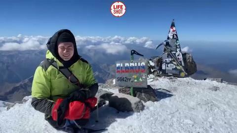 Ayaqları olmayan Rüstəm Elbrusu fəth etdi - Video