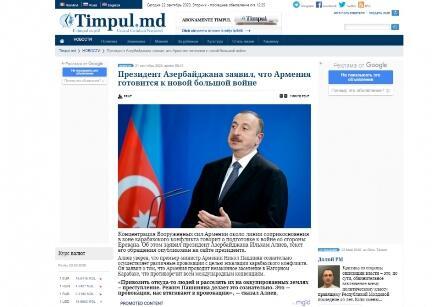 Prezidentin İrəvana mesajı Moldova mətbuatında