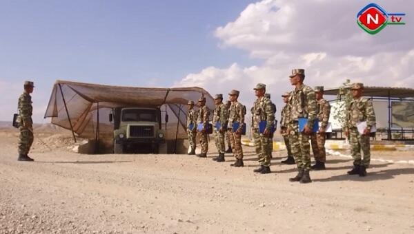Naxçıvanda manqa komandirləri ilə toplantı - Video