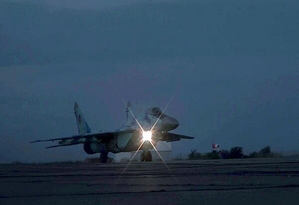 The Air Force held night exercises -