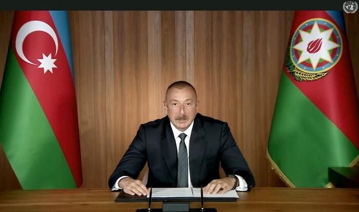Prezident erməni yalanlarını ifşa etdi - Video