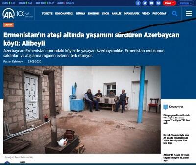 Anadolu agentliyi Əlibəylidən yazdı - Foto