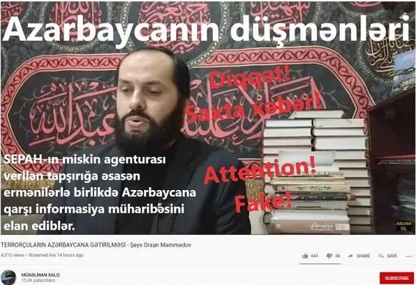 Bu saxta məlumatları ermənilər yayır - Fotofakt