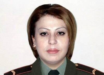 An Armenian female sniper was killed