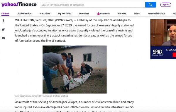Ermənistan Azərbaycanın mülki əhalisini öldürür - ABŞ mediası