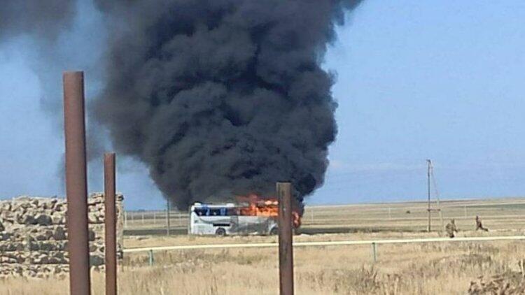 Düşmənin vurulan avtobusu: Professor detalları açıqladı - Foto