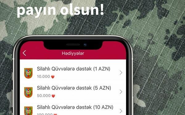"""""""Ürəklər""""inizlə Silahlı Qüvvələrə dəstək olun!"""
