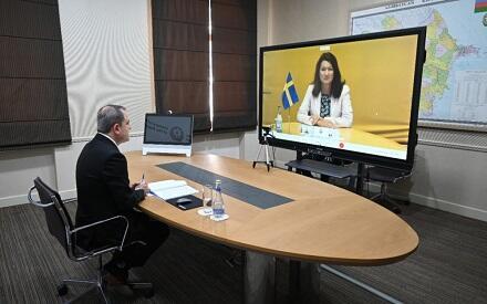 Байрамов провел переговоры с главой МИД Швеции