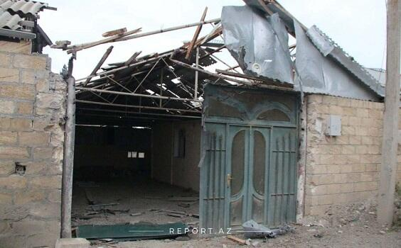 Goranboyda ermənilərin dağıtdığı evlər bərpa edilir
